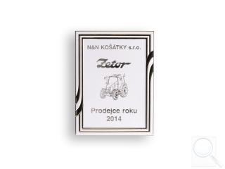 Prodejce roku 2014 (za prodej 49 ks traktorů Zetor)