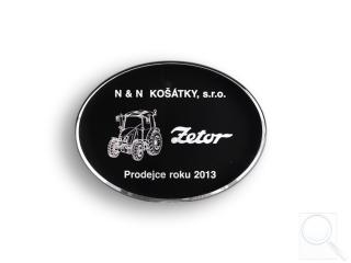 Prodejce roku 2013 (za prodej 47 ks traktorů Zetor)